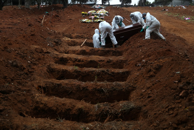 โควิด-19คร่าชีวิตผู้คนบราซิลทุบสถิติ3วันติด ยอดตายสะสมแซงขึ้นที่3โลก