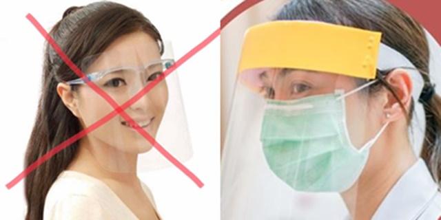 """เตือนอีกครั้ง! ใส่ """"เฟซชิลด์"""" แต่ไม่สวม หน้ากากอนามัย ไม่สามารถป้องกันโควิด-19ได้"""