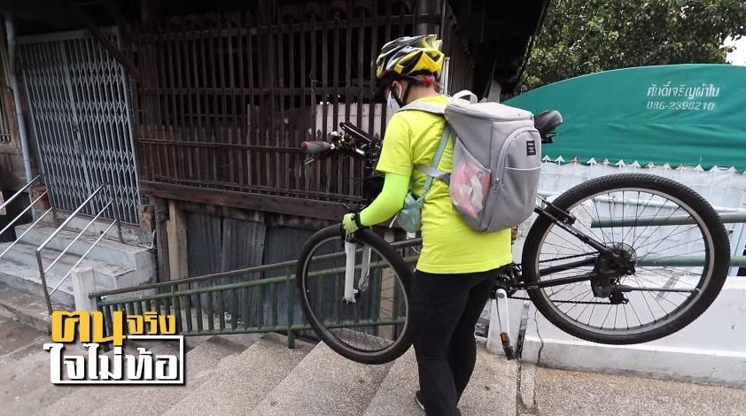 """""""ทราย"""" สาวอินดี้ ทิ้งงานสบายเงินเดือนหลายหมื่น มาปั่นจักรยานส่งอาหาร ชี้ถ้ามีวินัย สร้างเงินเก็บได้!"""