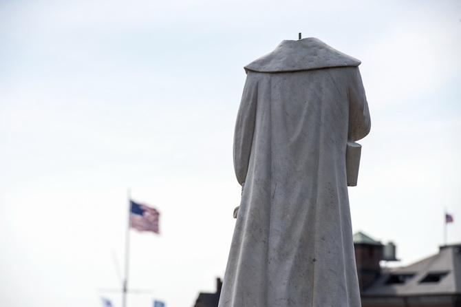'ทรัมป์'ค้านเปลี่ยนชื่อฐานทัพนายพลฝ่ายใต้ ม็อบบอสตันเดือดตัดหัวอนุสาวรีย์โคลัมบัส