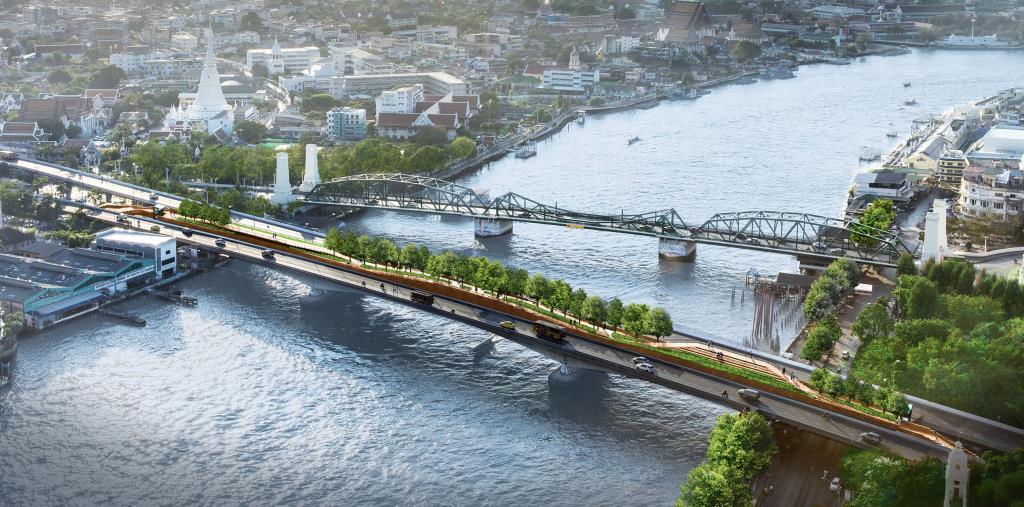 สวนลอยฟ้าเจ้าพระยา สวนลอยฟ้าข้ามแม่น้ำแห่งแรกในไทยและในโลก (ภาพ : เพจ Urban Design and Development Center)