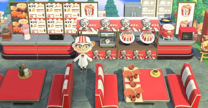 """ร้านไก่ทอด KFC โผล่เกม """"Animal Crossing: New Horizons"""""""