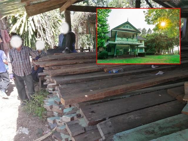 ชาวบ้านแฉภาพ! กลุ่มคนงานขนไม้จากการรื้อถอนอาคารบอมเบย์เบอร์มา จี้ หน่วยงานชี้แจง