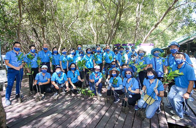 ศาลเยาวชนและครอบครัวสมุทรสาครทำโครงการรักษ์ป่าชายเลน
