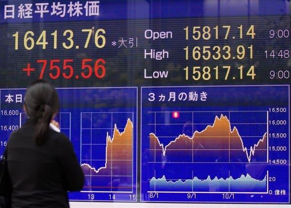 ตลาดหุ้นเอเชียปรับลบ นักลงทุนวิตกยอดผู้ติดเชื้อโควิด-19 พุ่งต่อเนื่อง