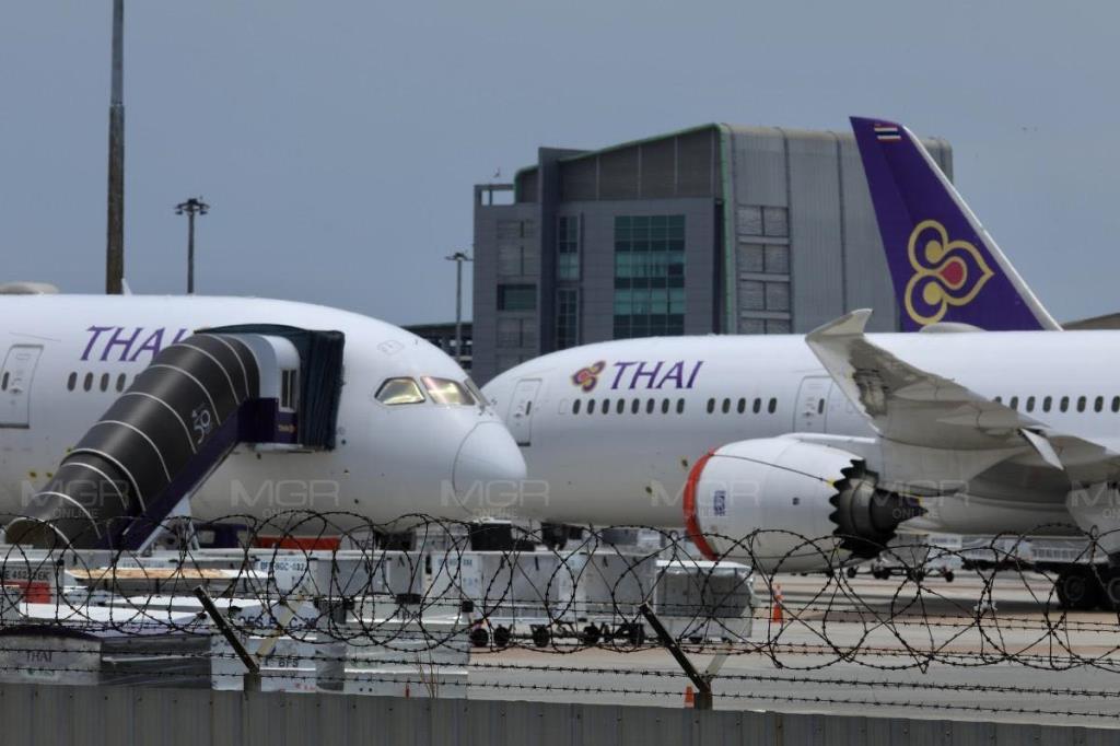 """""""การบินไทย"""" ขึ้นทะเบียน """"ประกันสังคม"""" พนักงาน 2.1 หมื่นราย หลังพ้นรัฐวิสาหกิจ จ่ายกองทุนทดแทน 6.4 ล้านบ."""