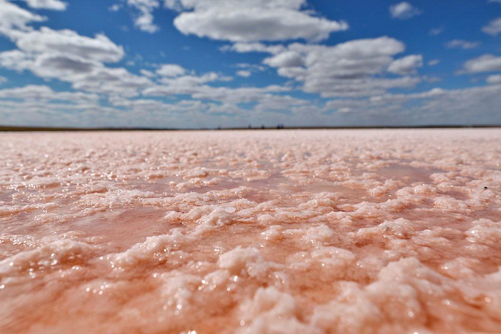 """""""ทะเลสาบโคเบทุซ"""" ทะเลสาบสีชมพูแห่งคาซัคสถาน (ภาพ : ซินหัว)"""