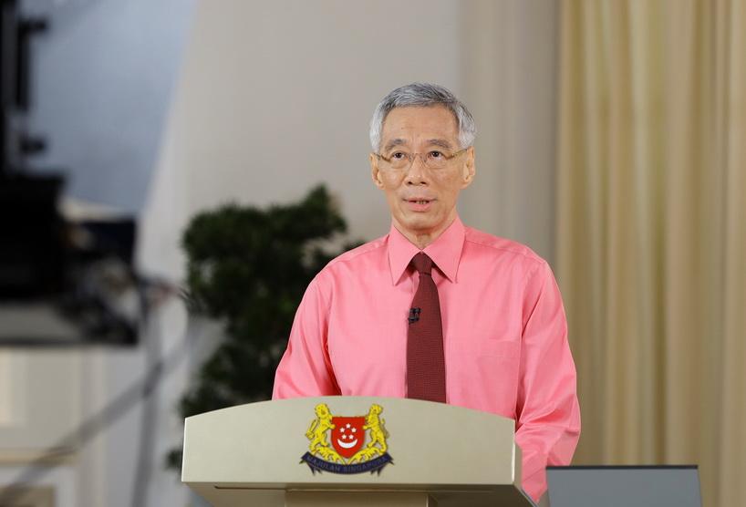 นายกรัฐมนตรี ลี เซียนลุง แห่งสิงคโปร์ ออกแถลงการณ์ยุบสภาและจัดการเลือกตั้งใหม่ผ่านสื่อโทรทัศน์ เมื่อวันที่ 23 มิ.ย.
