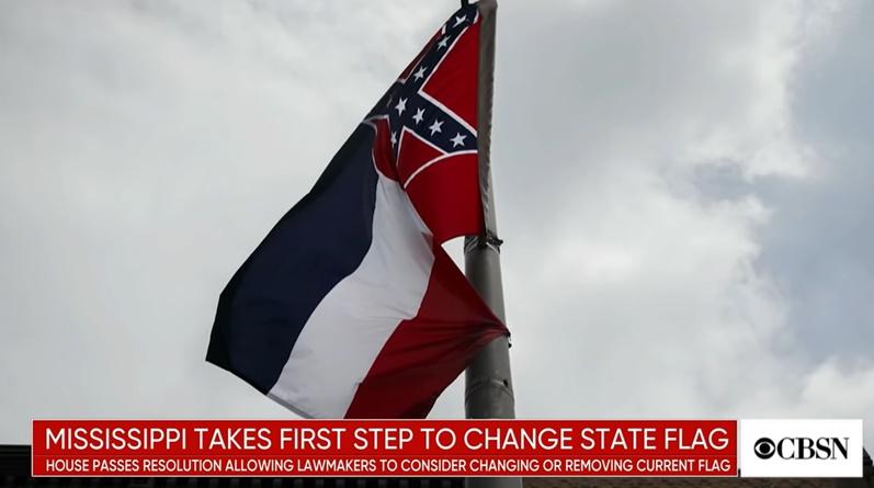 "In Clip: รัฐมิสซิสซิปปีในรอบ 126 ปี เปลี่ยนธงประจำรัฐ เอา ""สัญลักษณ์ธงคอนเฟดเดอเรต""  แสดงความสนับสนุนทาสออก หนุนกระแสจอร์จ ฟลอยด์"