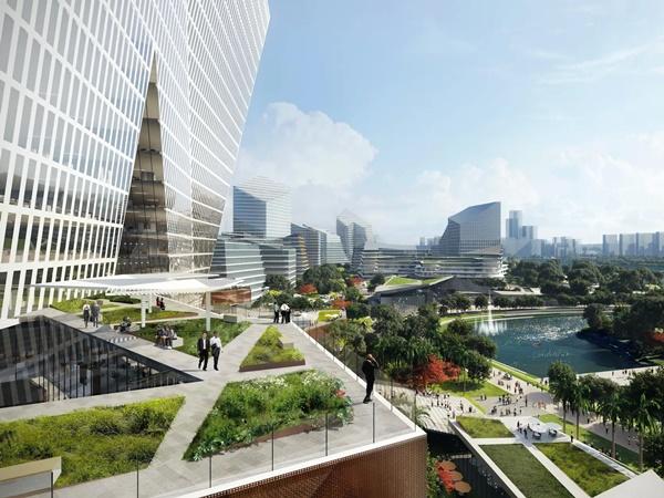 ภาพจำลองเมืองอัจฉริยะของเทนเซ็นต์ (ภาพจากเอ็นบีบีเจ)