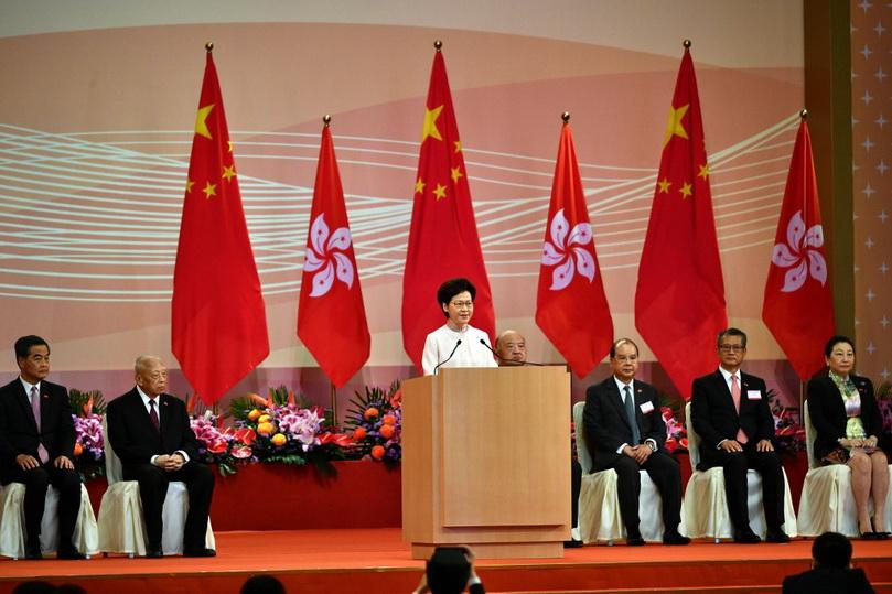 In Pics: รำลึก 23 ปี 'ฮ่องกง' คืนสู่จีน ผู้ว่าฯ 'แคร์รี ลัม' โวกฎหมายความมั่นคงคือ 'ก้าวย่างประวัติศาสตร์'
