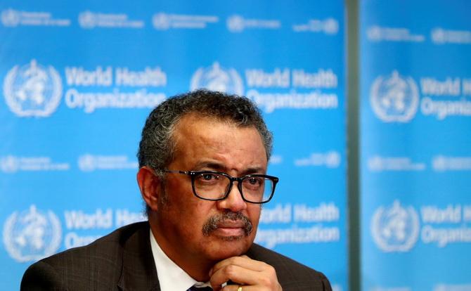 เทดรอส แอดฮานอม เกรเบเยซุส ผู้อำนวยการใหญ่องค์การอนามัยโลก