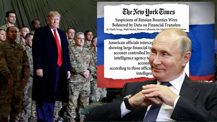 "In Clip: นิวยอร์กไทม์สระบุตัว ""นายหน้าอัฟกัน"" จัดการค่าหัวล่าทหารอเมริกัน $100,000 ต่อคน ""ทรัมป์"" แถ ""ข่าวรัสเซียจ้างฆ่าของปลอม"""