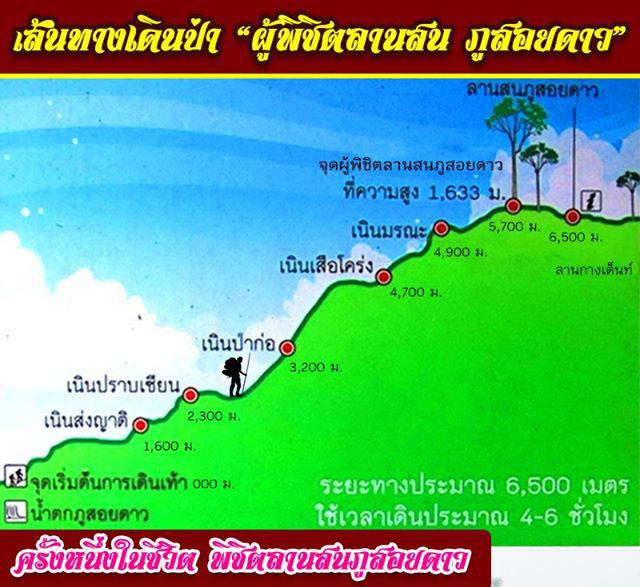 เส้นทางเดินขึ้นพิชิตลานสนภูสอยดาว (ภาพ : เพจ สำนักบริหารพื้นที่อนุรักษ์ที่ 11 (พิษณุโลก))