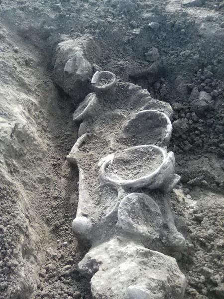 พบวัตถุโบราณยุคหินใหม่กลางทุ่งนา ต.สีบัวทอง   เมืองอ่างทอง