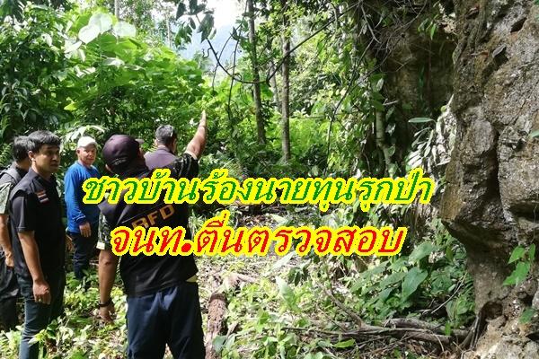 ชาวบ้านสุดทนร้องนายทุนรุกป่าต้นน้ำ เจ้าหน้าที่ตื่นลงตรวจสอบพบอยู่ในเขตป่าถาวร