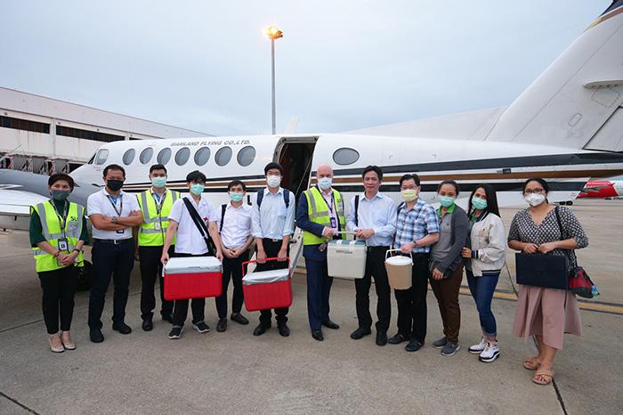 """น้ำใจคนไทย! เครือซีพีสนับสนุน รพ.จุฬาฯ จัดไฟล์ทเครื่องบินเช่าเหมาลำรับ """"หัวใจ-ไต-ดวงตา จากบุรีรัมย์มากรุงเทพฯ ช่วยเหลือผู้ป่วยได้ 5 ชีวิต"""""""
