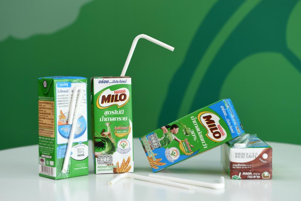 ไมโล โก อีโค ชูหลอดกระดาษยูเอชที ลด100 ล้านหลอดพลาสติกปีหน้า