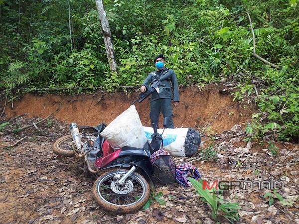 จับได้ต่อเนื่อง! ตชด.สงขลารวบกองทัพมดขนใบกระท่อมดอดเข้าช่องทางธรรมชาติชายแดนไทย-มาเลย์