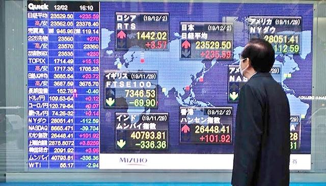 ตลาดหุ้นเอเชียปรับบวกตามทิศทางดาวโจนส์ รับความหวัง ศก.สหรัฐฟื้นตัว