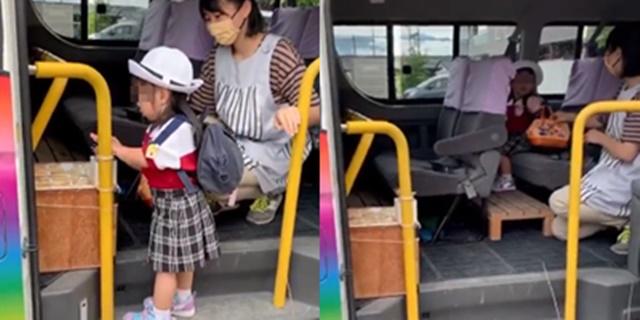 คลิปน่ารัก! หนูน้อยญี่ปุ่นรอขึ้นรถโรงเรียน ชมความใส่ใจเป็นพิเศษ ทั้งเจลแอลกอฮอล์ - บันไดก้าวขึ้นรถ