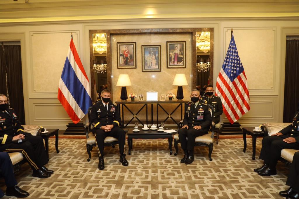 ผู้บัญชาการทหารบกไทย ต้อนรับ ผู้บัญชาการทหารบกสหรัฐฯ อย่างเป็นทางการ