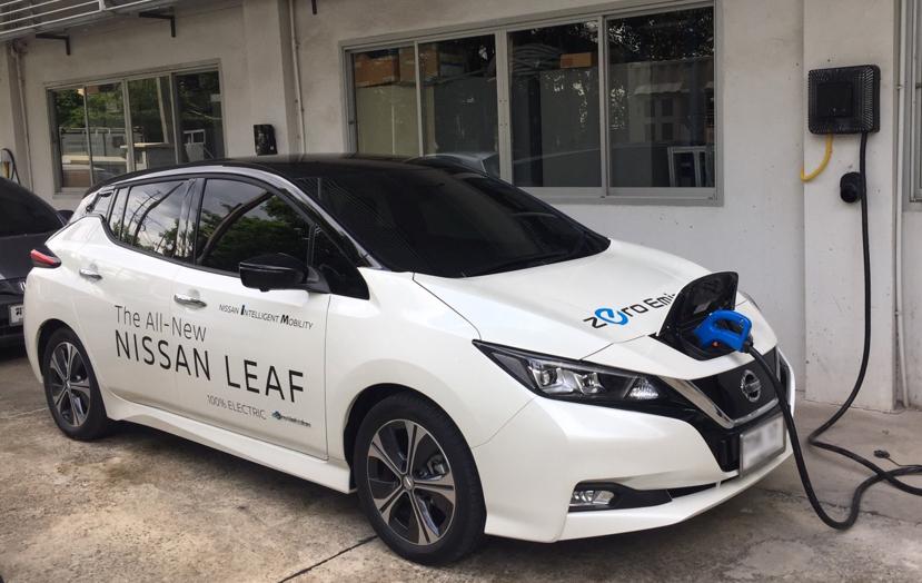 """ครั้งแรกในไทย""""กฟผ.-นิสสัน""""ทดสอบจ่ายพลังงานจากแบตเตอรี่รถยนต์ไฟฟ้ามายังระบบไฟฟ้าสำเร็จ"""