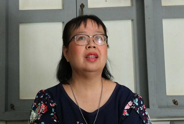 นางจงกลกร ผาสุขมูล อายุ 55 ปี เหลนรุ่นที่ 6 ของย่าโม