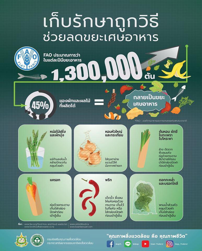 ลดขยะอาหาร!! แนะเก็บผักถูกวิธี ช่วยลดโลกร้อน