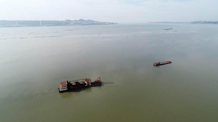 พื้นที่ประสบน้ำท่วมใหญ่อย่างสาหัสที่สุดคือ มณฑลเจียงซี ในภาพทะเลสาบโผหยัง มีระดับน้ำสูงเป็นประวัติการณ์ในรอบ 22 ปี (แฟ้มภาพซินหัว)