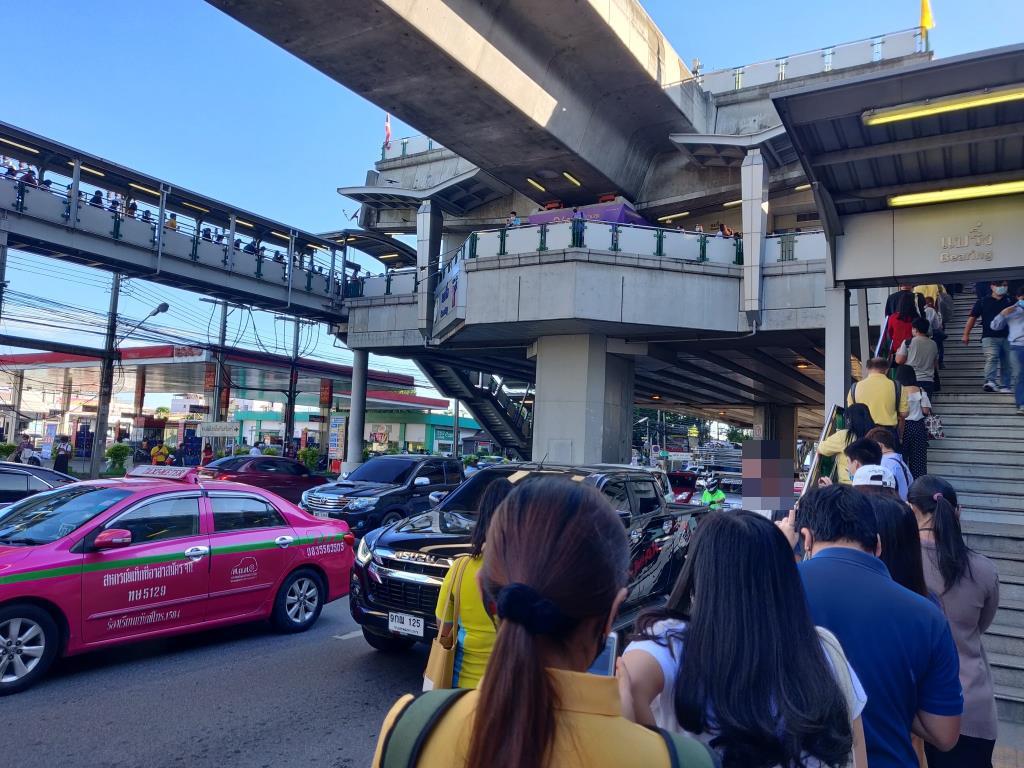 รถไฟฟ้าบีทีเอสขัดข้องแจ้งปิดสถานีสำโรง-เคหะฯ ชั่วคราว