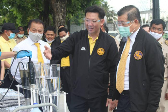 มท.2 ตรวจเยี่ยมการดำเนินงานศูนย์บริหารจัดการคุณภาพน้ำ เทศบาลเมืองสามพราน จังหวัดนครปฐม