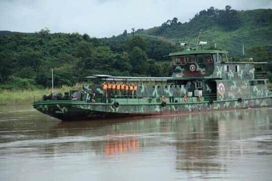 ลาวโชว์ทหารเรือลาดตระเวนน้ำโขง ร่วมสกัดยาเสพติดสามเหลี่ยมทองคำ-จีน