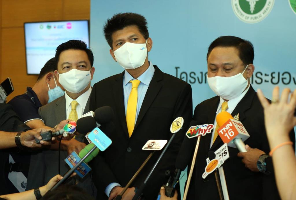 """""""สาธิต"""" เผย รบ.ตั้งงบ 600 ล.เจรจาซื้อวัคซีนโควิด จับมือเมืองไทย-GC มอบประกันโควิดคนเที่ยว """"ระยอง"""" 5 หมื่นรายแรก"""