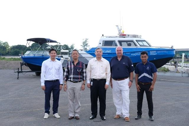 ทดสอบท่าเทียบเรือโครงการริเวอร์เดล  วอเตอร์ฟร้อนท์ แอนด์ มารีน่า