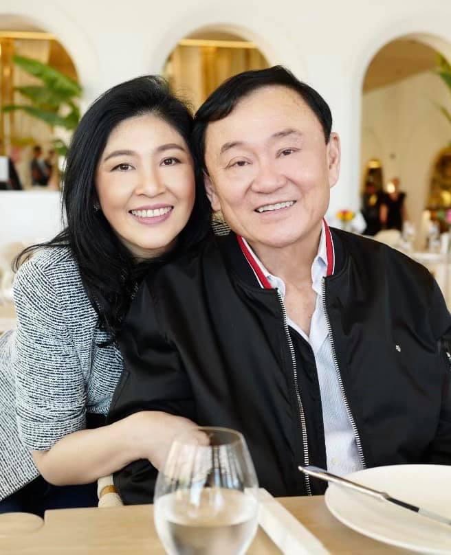 """""""ทักษิณ"""" ซาบซึ้งคนอวยพรวันเกิด แม้จากไทยนาน 14 ปี """"ปู"""" ปลื้มได้ฉลองด้วยกัน"""
