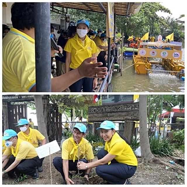 ร่วมกันทำความสะอาดปรับปรุงภูมิทัศน์ปลูกต้นไม้ สวนสาธารณะและสนามเด็กเล่นบริเวณประตูน้ำลัดหลวง