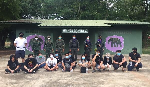 รวบ14คนไทยลอบเข้าเมืองผ่านช่องทางธรรมชาติ จ.สระแก้ว เชื่อทำงานบ่อนพนันออนไลน์ในกัมพูชาเกี่ยวข้องเสี่ยคนดัง