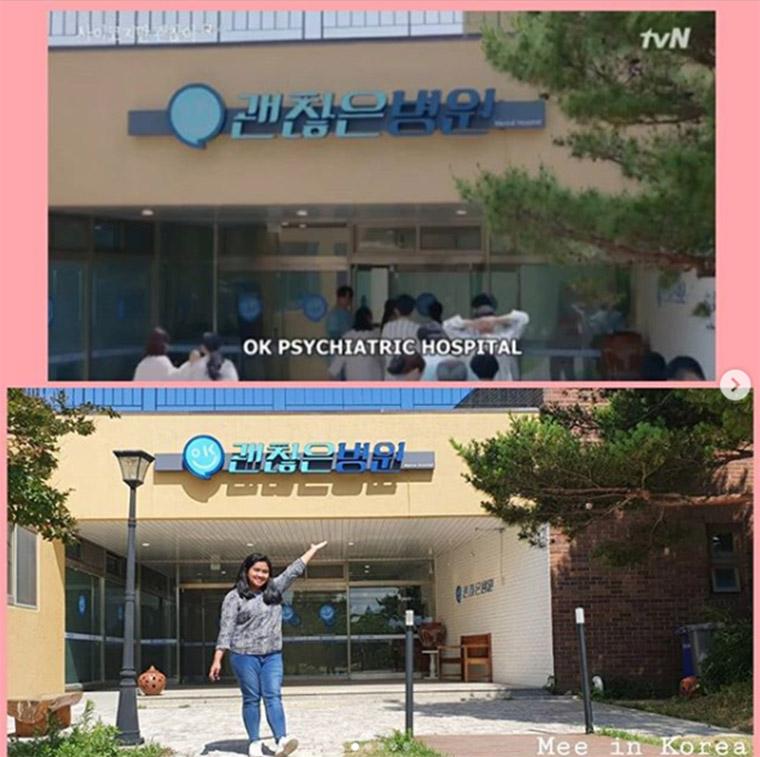 แฟนๆ ซีรีส์ในเอเชียไม่พลาดเดินทางไปแชะรูปกับป้ายชื่อโรงพยาบาลรื่นรมย์เป็นที่ระลึก