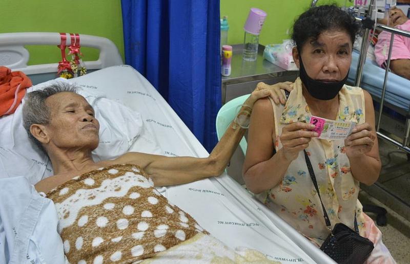 ผัวนอนป่วยอยู่รพ.เมียเสี่ยงซื้อเลขเตียงถูกรางวัลที่ 1 เผยครอบครัวยากจนรับจ้างกรีดยาง