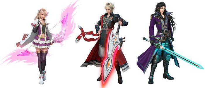 FINA, RAIN และ LASSWELL ตัวละครหลักของ FFBE