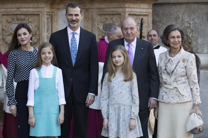 สมเด็จพระราชาธิบดีเฟลิเปที่ 6 แห่งสเปน, สมเด็จพระราชินีเลติเซีย พร้อมด้วยพระบรมวงศานุวงศ์ (แฟ้มภาพ)