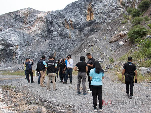 กรมสอบสวนคดีพิเศษลงยะลาตรวจโรงโม่หิน พร้อมดูพื้นที่ภาพเขียนสีโบราณเขายะลา