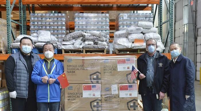 'จีน' บริจาคหน้ากากช่วย 'สหรัฐฯ' แล้วกว่า 2 หมื่นล้าน หวังมะกันเอาชนะโควิด-19 ได้โดยเร็ว