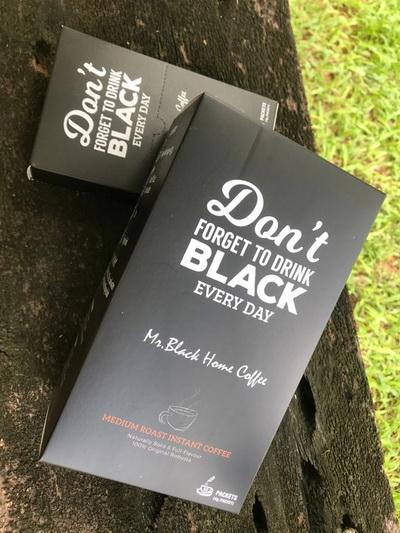 """""""Mr.Black""""กาแฟดำเพื่อสุขภาพแบรนด์ของหนุ่มขอนแก่น  """"ของดี ไม่จำเป็นต้องมีหน้าร้าน"""""""