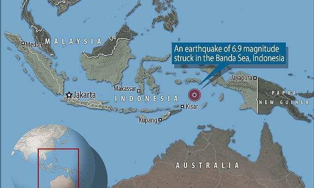 แผ่นดินไหวขนาด 6.9 เขย่านอกชายฝั่งอินโดนีเซีย ไร้เตือนสึนามิ
