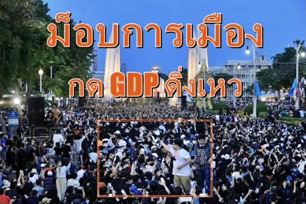 นักเศรษฐศาสตร์ผวา Covid-19 ยังไม่คลาย ม็อบการเมืองโผล่กด GDP ติดลบลึก