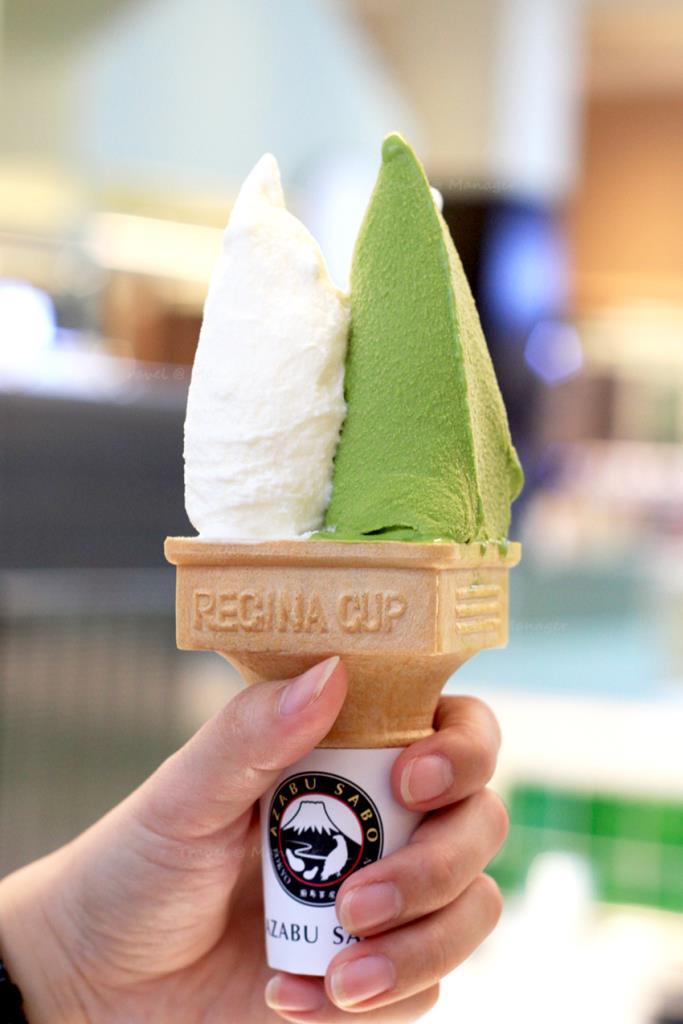 ไอศกรีมนมฮอกไกโด+ชาเขียว