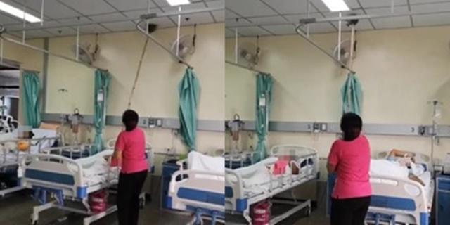 """""""โรงพยาบาลนครพนม"""" แจง เหตุแม่บ้านกวาดหยากไย่ลงเตียงผู้ป่วย ผอ.รพ. ยืนยัน จะไม่ให้เกิดขึ้นอีก"""