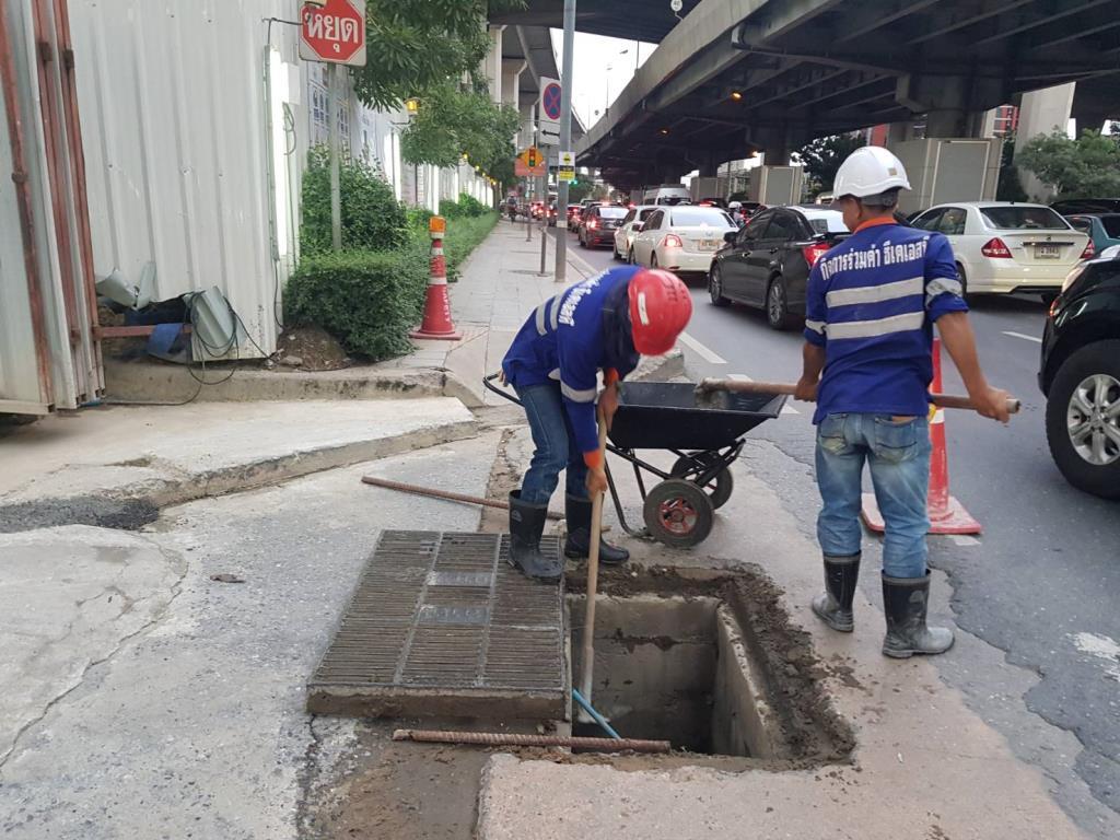 รฟม. บริหารจัดการระบายน้ำแนวพื้นที่ก่อสร้างโครงการรถไฟฟ้ารับมือหน้าฝน
